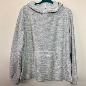 Lou & Grey Pullover Hoodie Sweater Gray Large